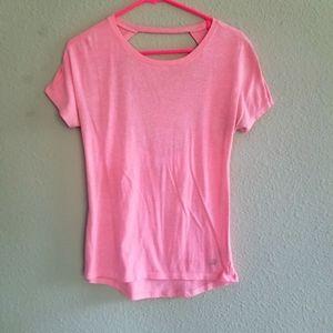 VSX Sport peach/pink open back work out t-shirt